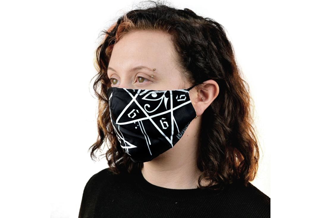 Heartless | Dripping Pentagram Face Mask - Side