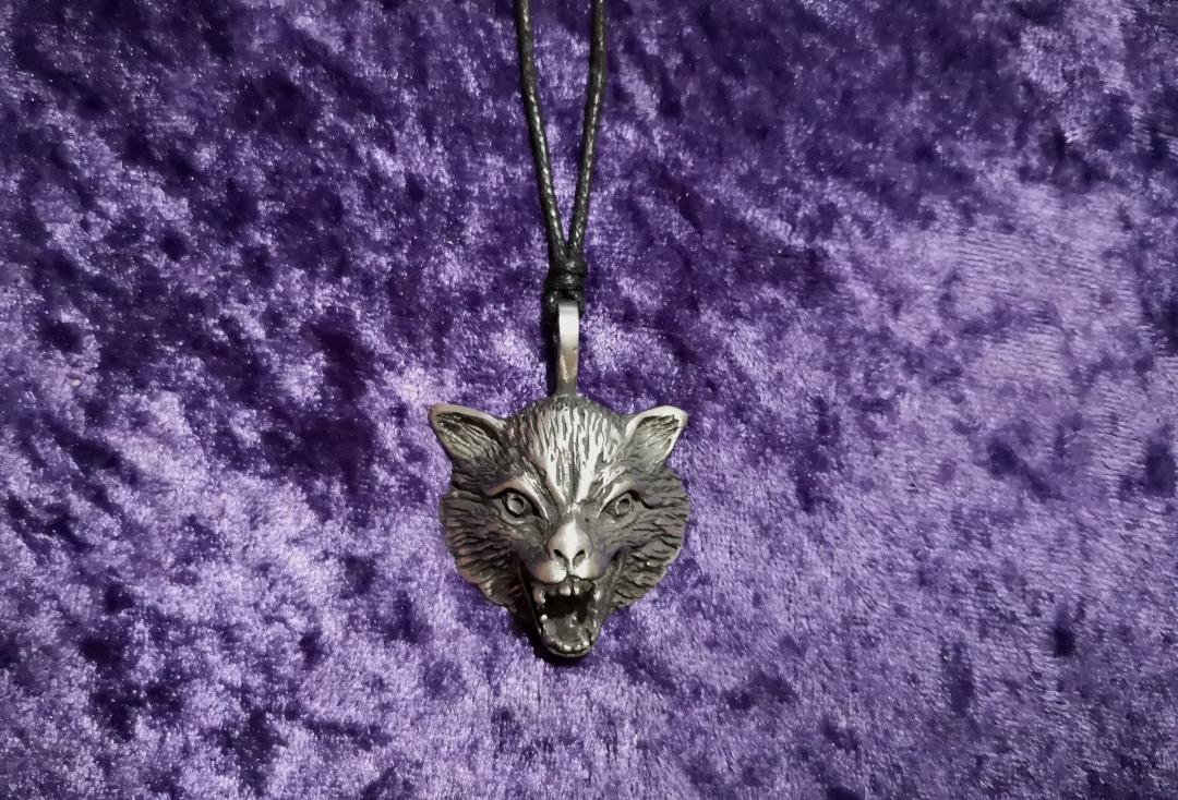Void Clothing | Snarling Wolf Pewter Pendant