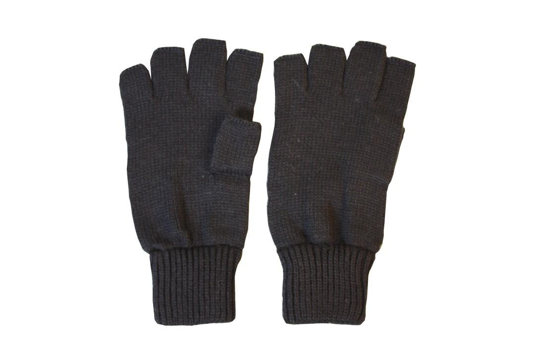 Kombat | Plain Black Men's Fingerless Gloves