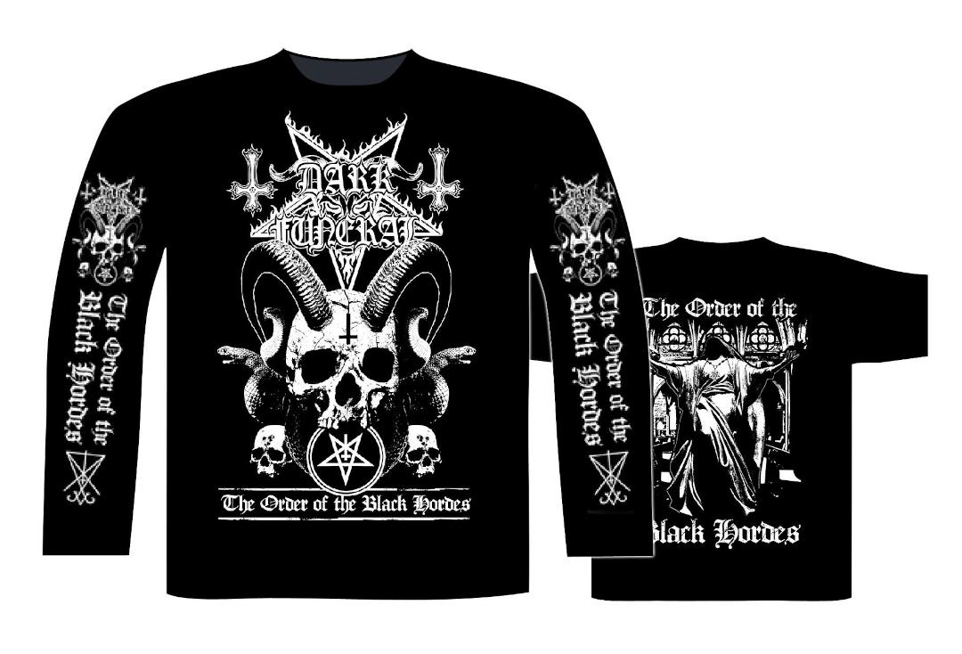 Official Band Merch | Dark Funeral - The Order Of The Black Hordes Men's Official Long Sleeve T-Shirt