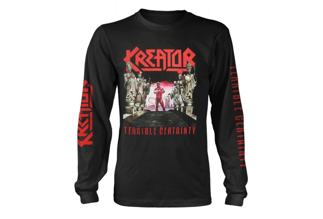 Official Band Merch | Kreator - Terrible Certainty Men's Official Long Sleeve T-Shirt
