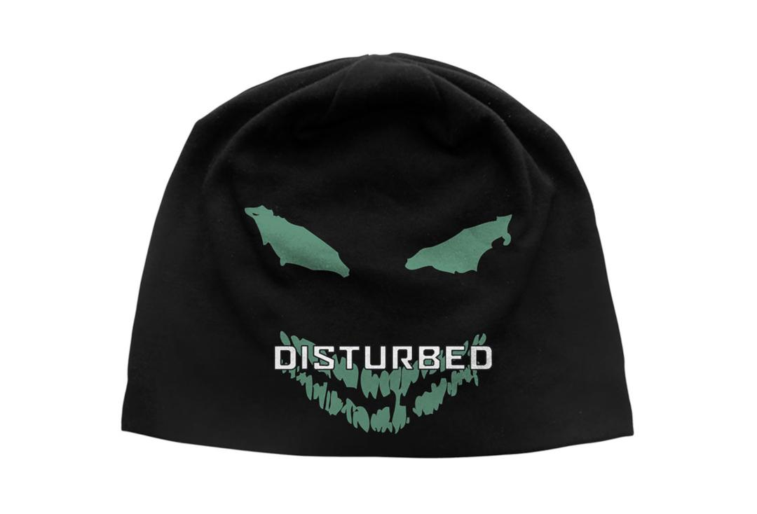 Official Band Merch | Disturbed - Green Eyes Discharge Printed Official Jersey Beanie