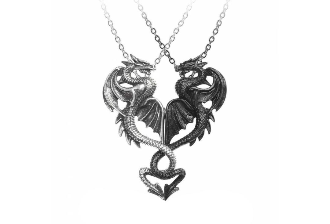 Alchemy Gothic | Draconic Tryst Double Pendant - Main Together