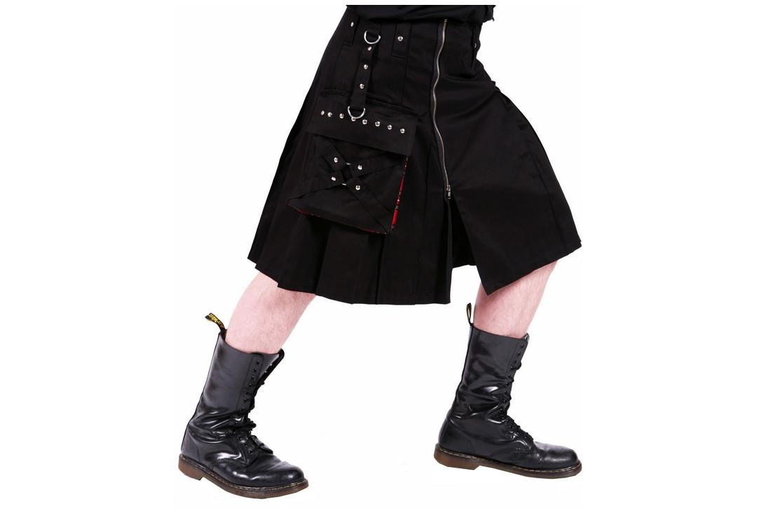 Dead Threads | Red Pocket Detail 9383 Men's Kilt - Side Alt