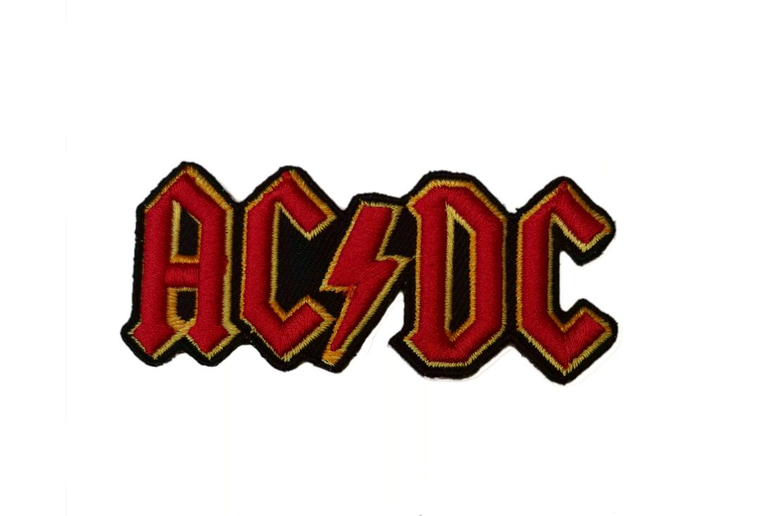 Official Band Merch | AC/DC - Red Cut Out 3D Logo Woven Patch