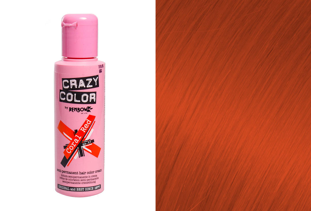 Renbow | Crazy Color Semi-Permanent Hair Colour (057 Coral Red)