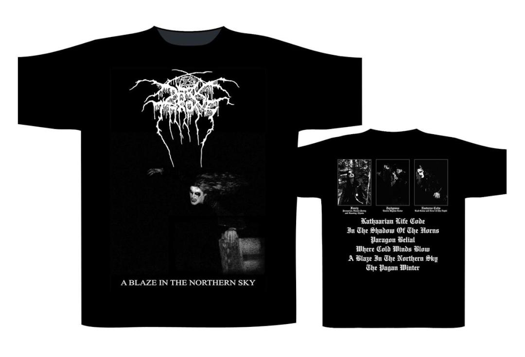 Official Band Merch | Darkthrone - A Blaze In The Northern Sky (Album) Men's Short Sleeve T-Shirt