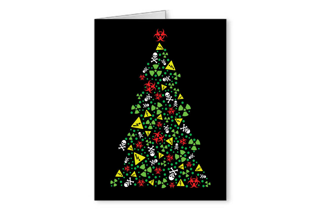 Void Clothing | Hazard Tree Christmas Greetings Card