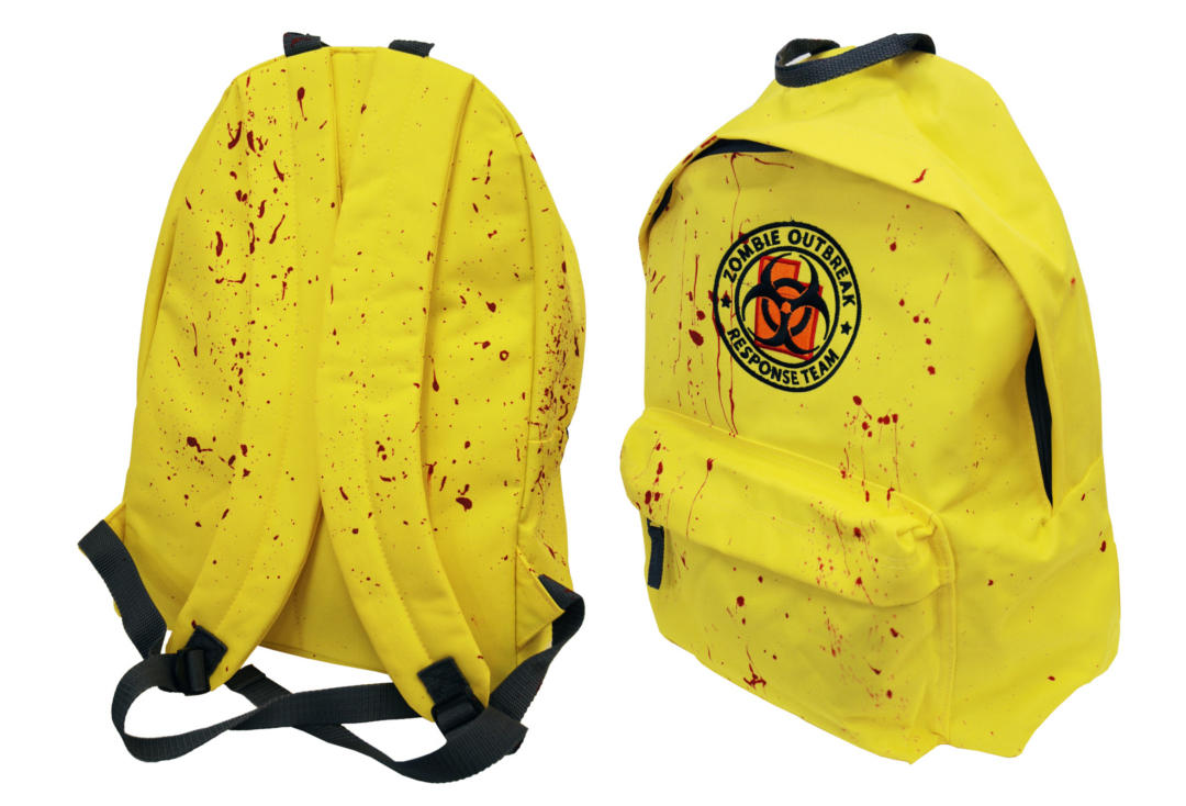 Darkside | Yellow Zombie Response Embroidered Darkside Backpack - Front & Back