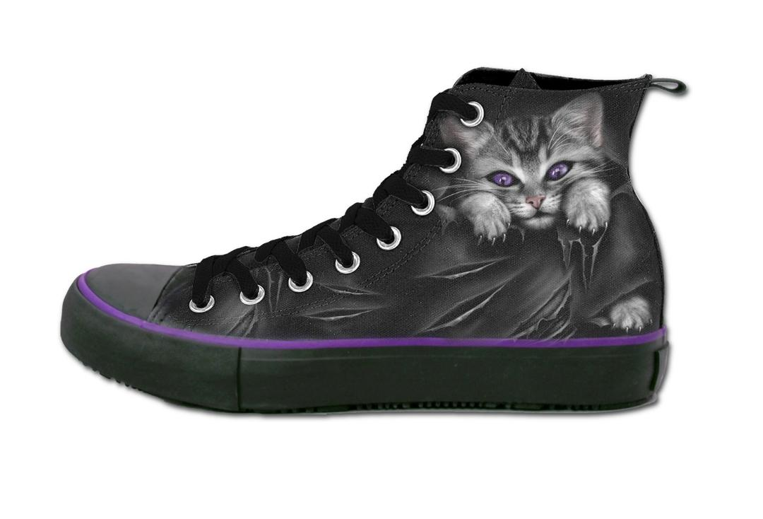 Kitten Women's Spiral Lace Up High Top Sneakers