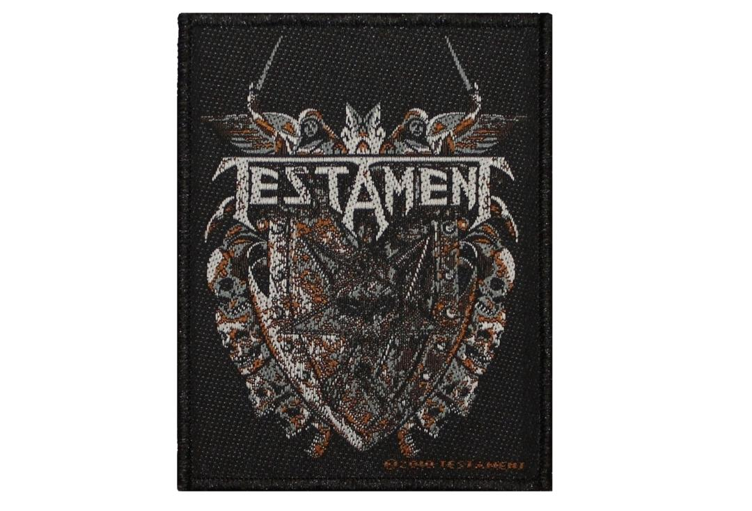 Official Band Merch | Testament - Shield Woven Patch
