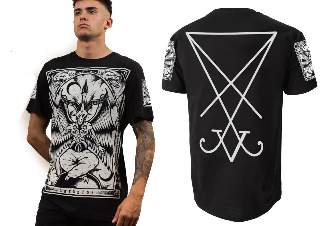 Darkside | Baphomet Short Sleeve Men's T-Shirt - Front & Back