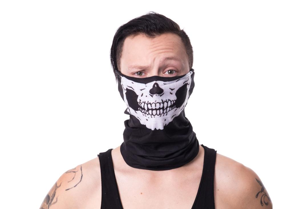 Poizen Industries | White Skull 4-In-1 Snood - Main