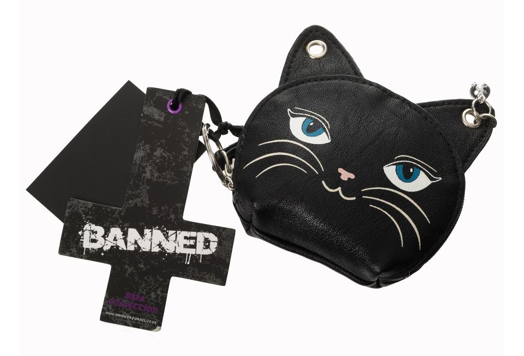 Banned Apparel | Feminine Feline Coin Purse - Front View