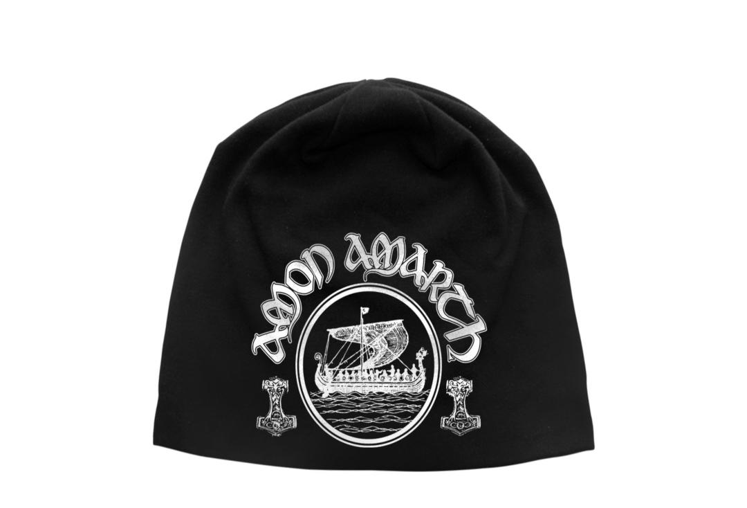 Official Band Merch | Amon Amarth - Vikings Discharge Printed Jersey Beanie