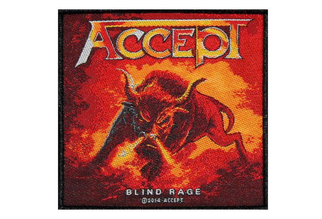 Official Band Merch | Accept - Blind Rage Woven Patch