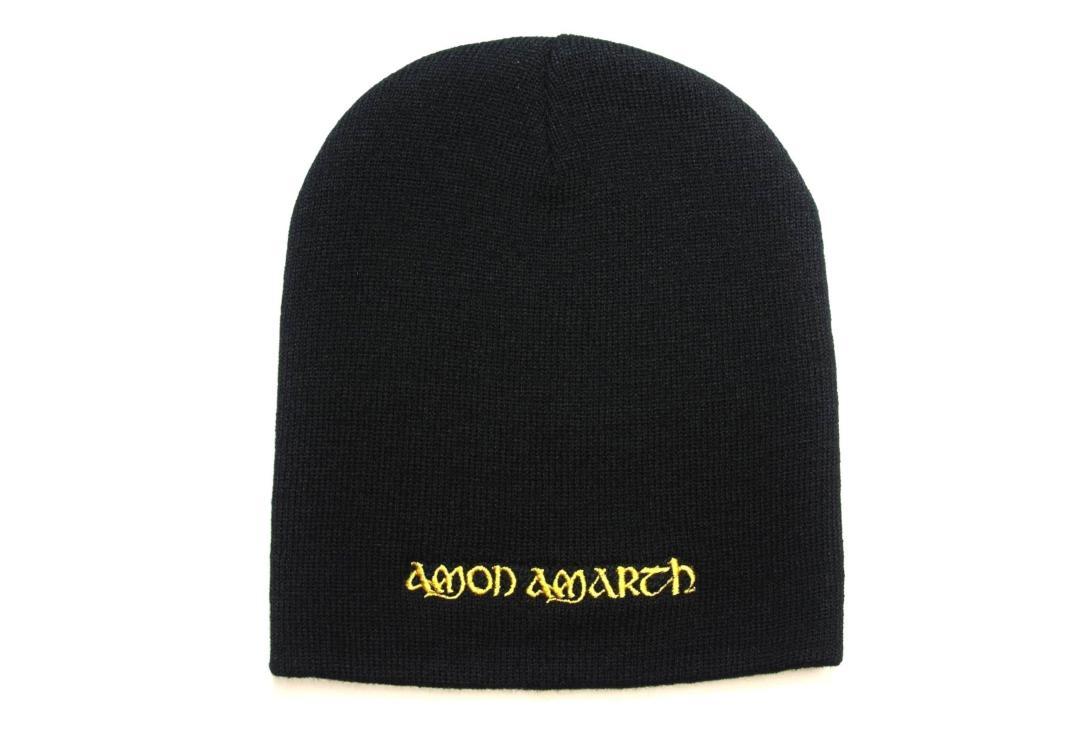 Official Band Merch | Amon Amarth - Logo Embroidered Official Knitted Beanie Hat