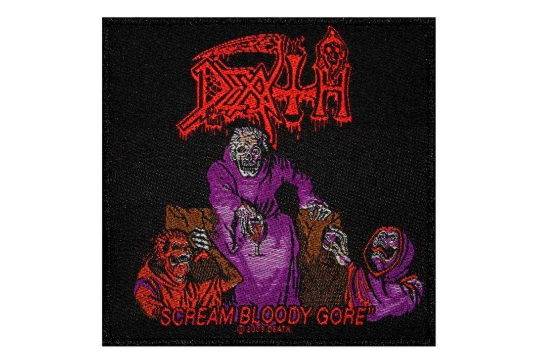 Official Band Merch | Death - Scream Bloody Gore Woven Patch