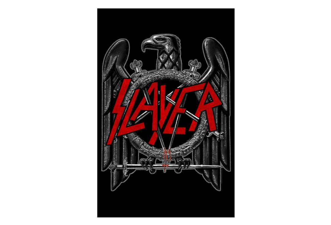 Official Band Merch | Slayer - Black Eagle Printed Textile Poster