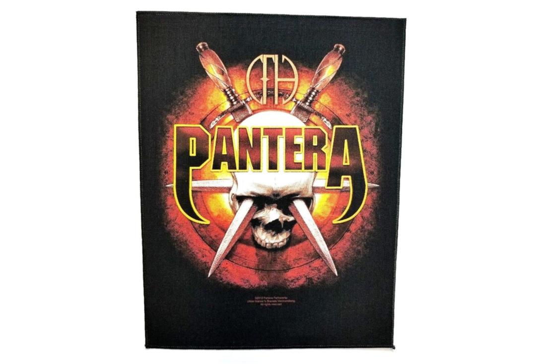 Official Band Merch | Pantera - Skull & Daggers Printed Back Patch