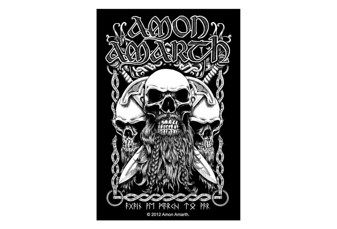 Official Band Merch | Amon Amarth - Bearded Skull Vinyl Sticker