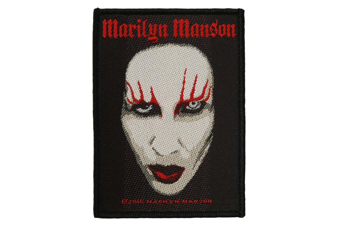 Official Band Merch | Marilyn Manson - Face Woven Patch