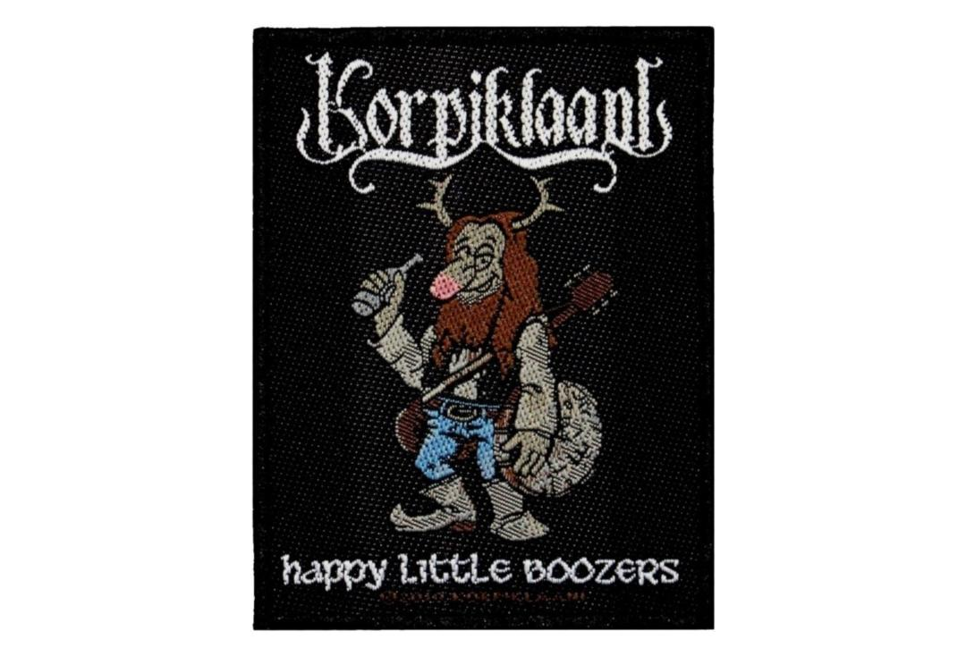 Official Band Merch | Korpiklaani - Happy Little Boozers Woven Patch