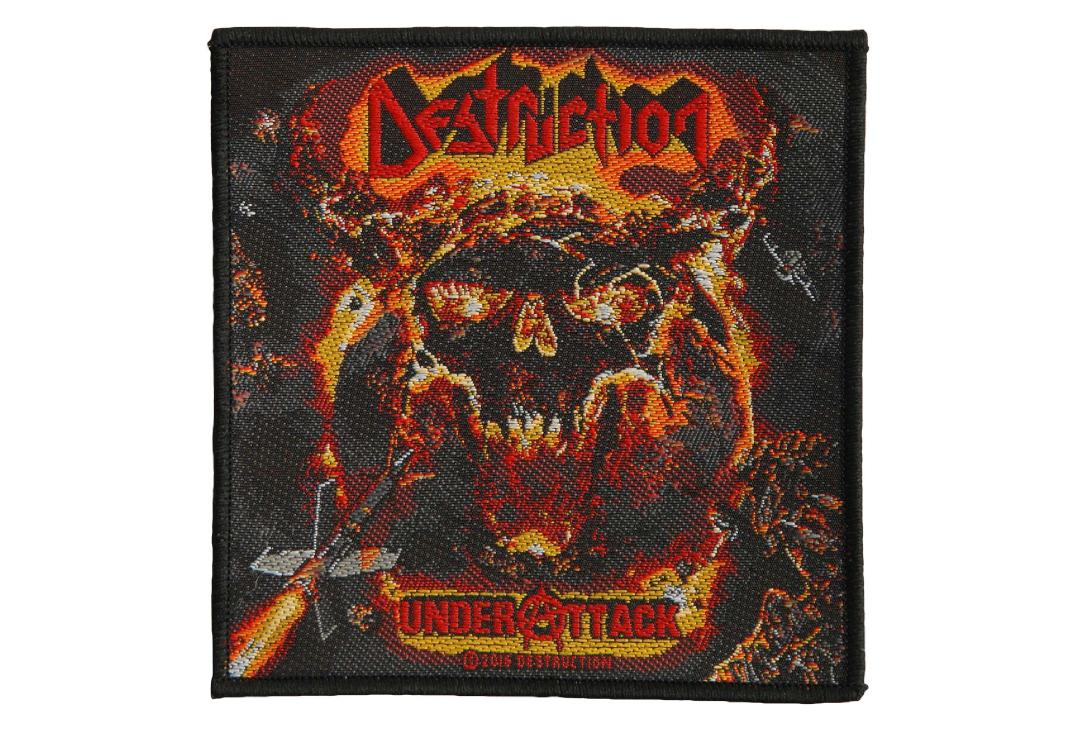 Official Band Merch | Destruction - Under Attack Woven Patch