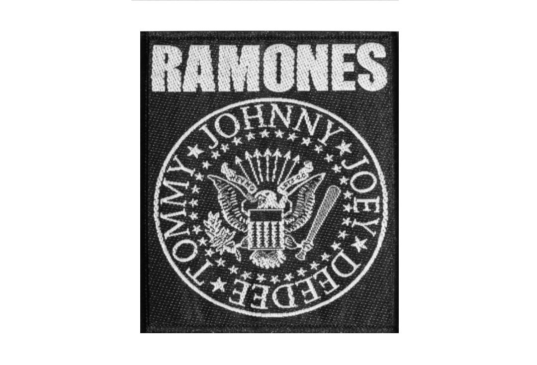 Official Band Merch | Ramones -  Logo & Seal Woven Patch