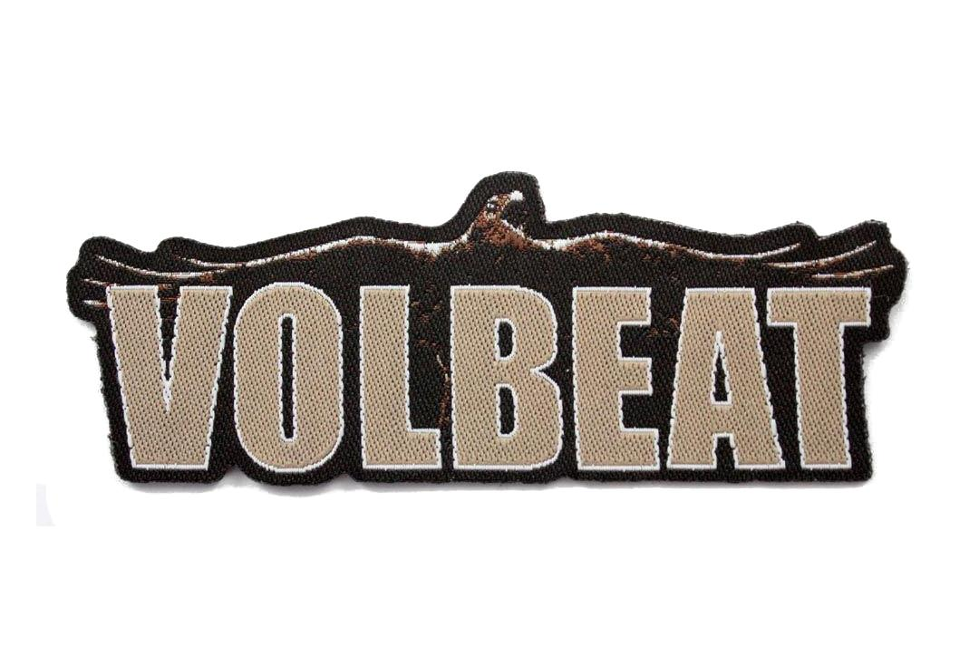 Official Band Merch | Volbeat - Raven Cut Out Logo Woven Patch