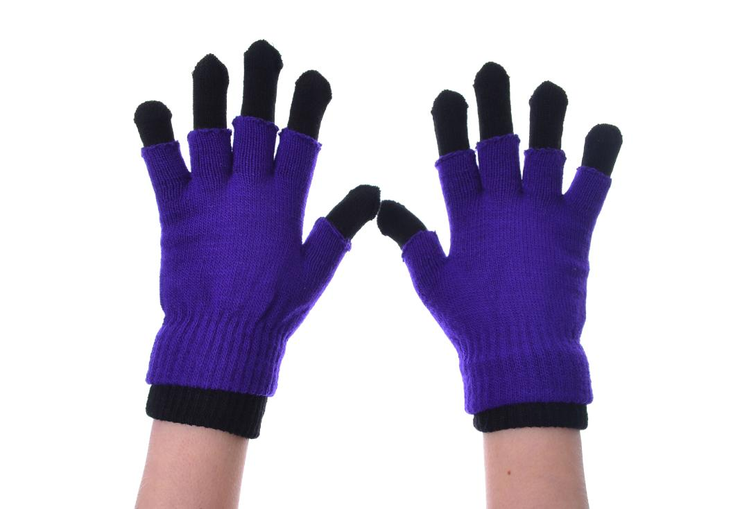 Poizen Industries | Purple & Black Double Gloves