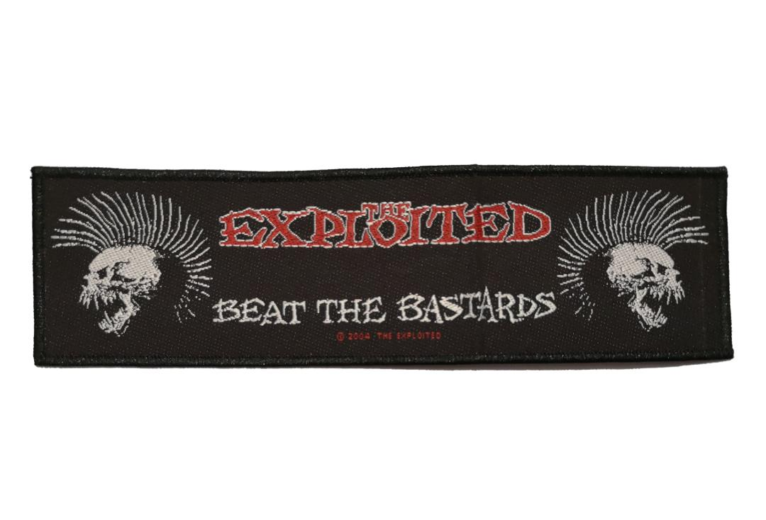 Official Band Merch | The Exploited - Beat The Bastards Woven Super Strip Patch