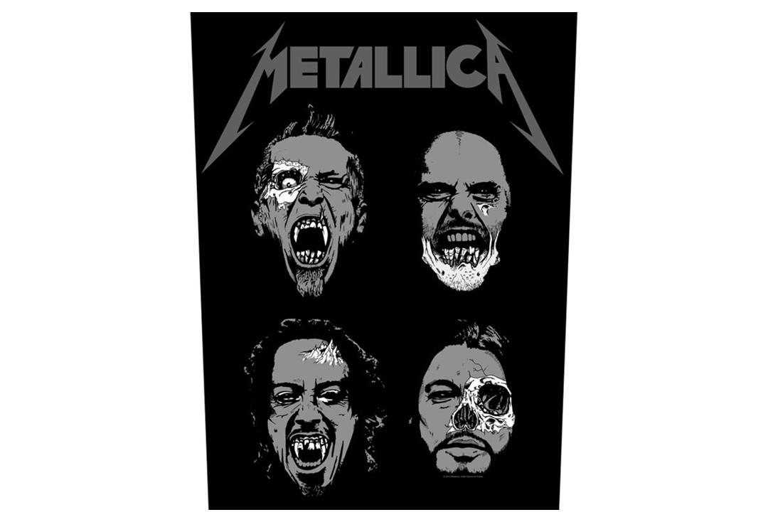 Official Band Merch | Metallica - Undead Printed Back Patch **Slight Flaw**
