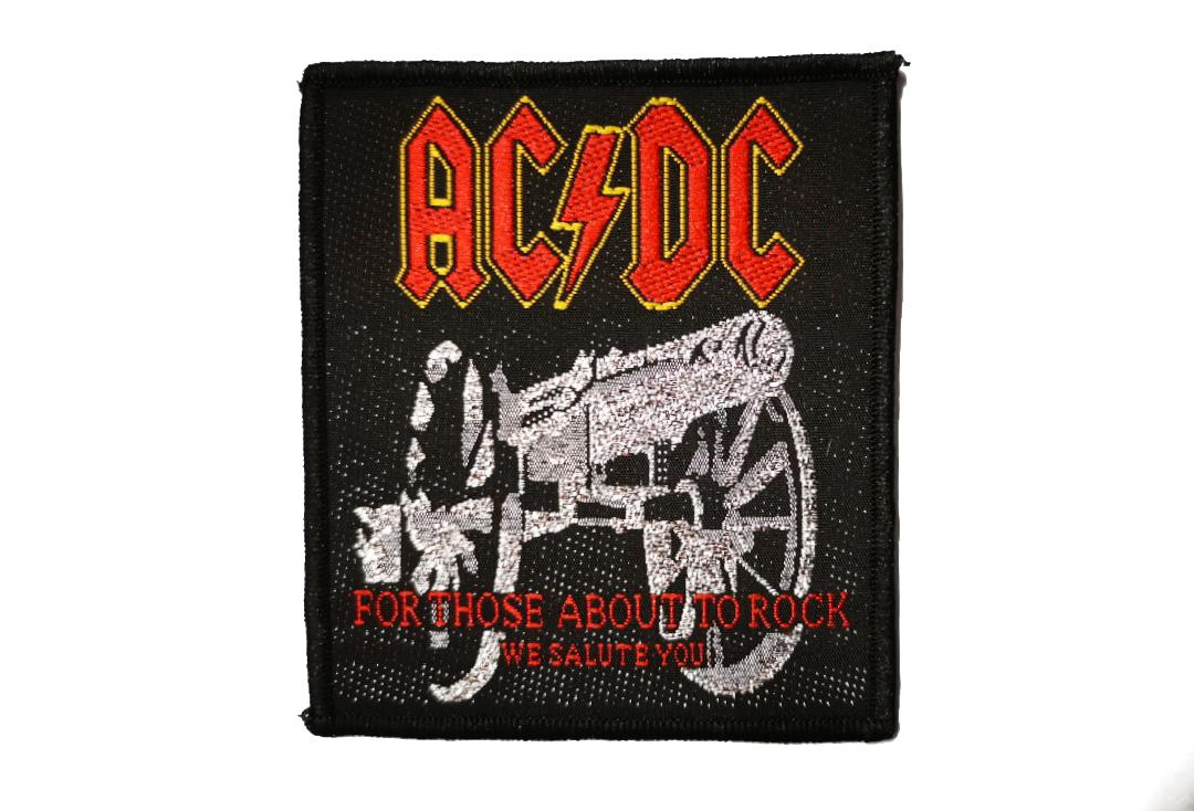 Official Band Merch | AC/DC - For Those About To Rock Woven Patch