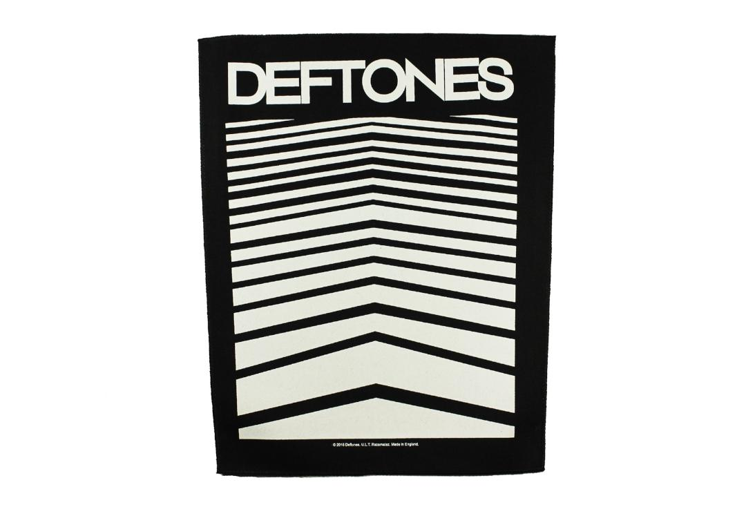 Official Band Merch | Deftones - Abstract Lines Printed Back Patch