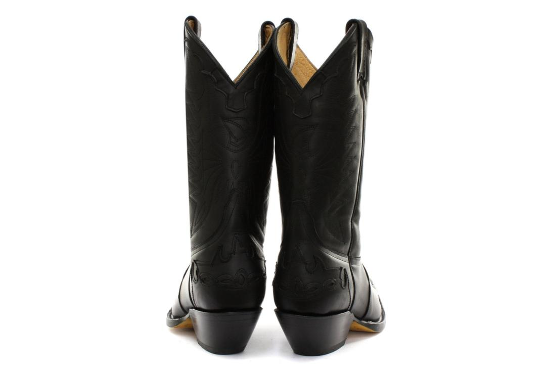Grinders | Arizona Grinders Women's Black Leather Cowboy Boots - Back