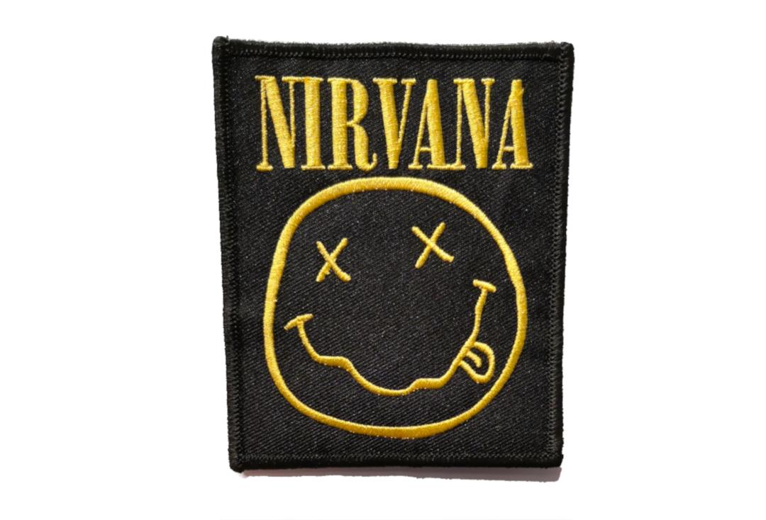 Official Band Merch | Nirvana - Smiley Logo Woven Patch