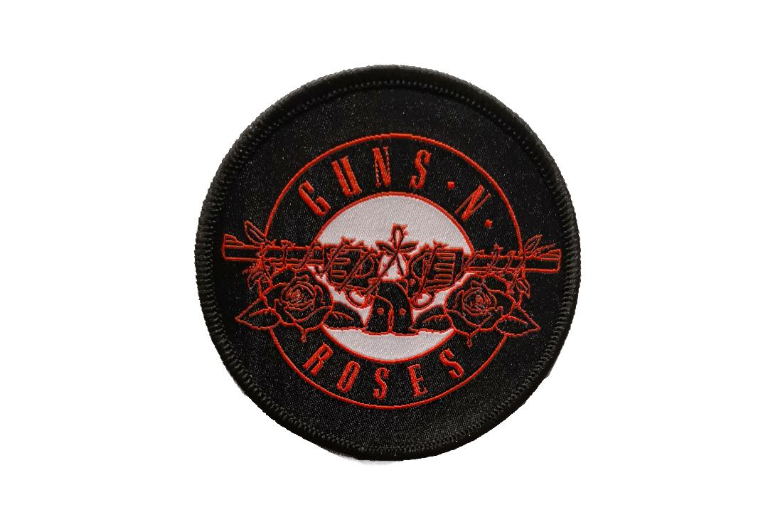 Official Band Merch | Guns 'N' Roses - Red Circle Logo Woven Patch