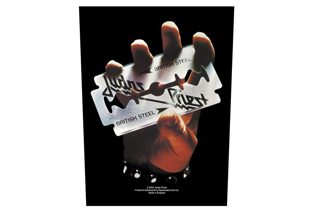 Official Band Merch | Judas Priest - British Steel Printed Back Patch