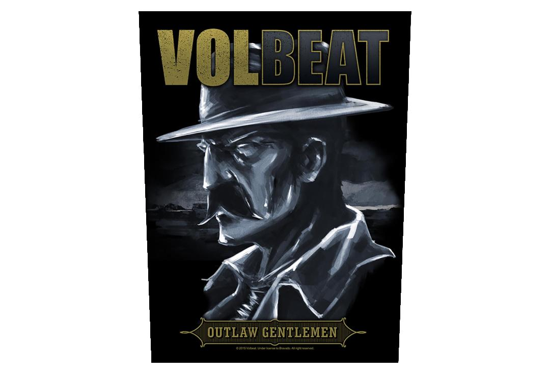 Official Band Merch | Volbeat - Outlaw Gentlemen Printed Back Patch