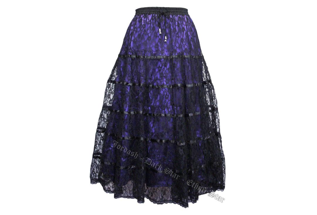 Darkstar By Jordash | Purple Lace Tiered Skirt