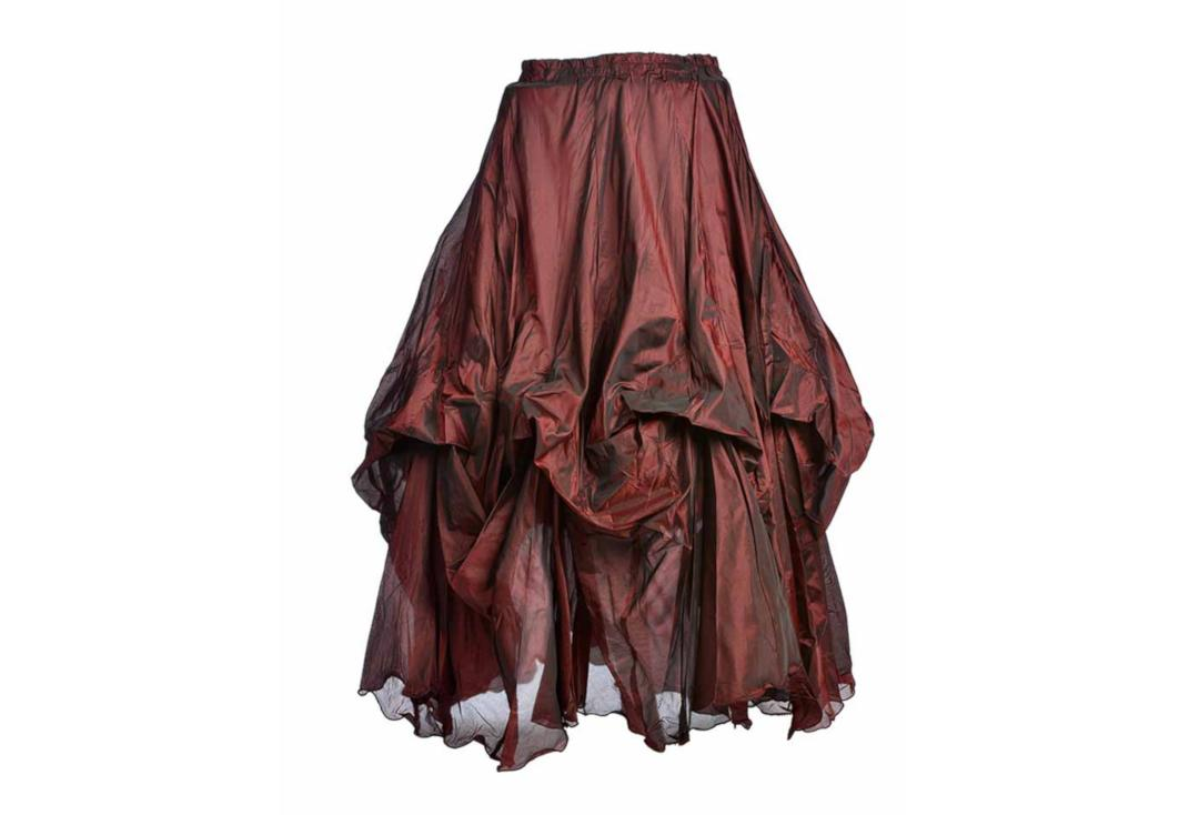 Darkstar By Jordash | Red Ruched Gothic Skirt