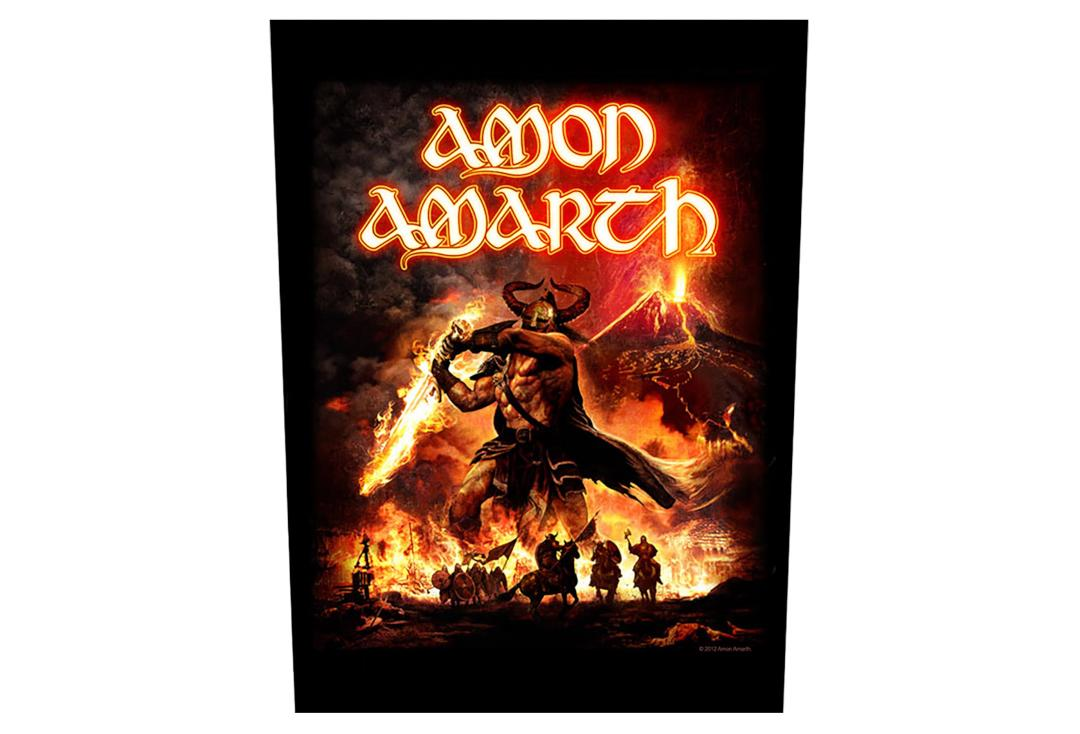 Official Band Merch | Amon Amarth - Surtur Rising Printed Back Patch
