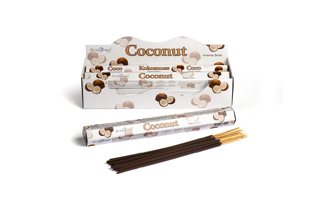 Stamford Inc | Coconut Mythical White Hex Incense