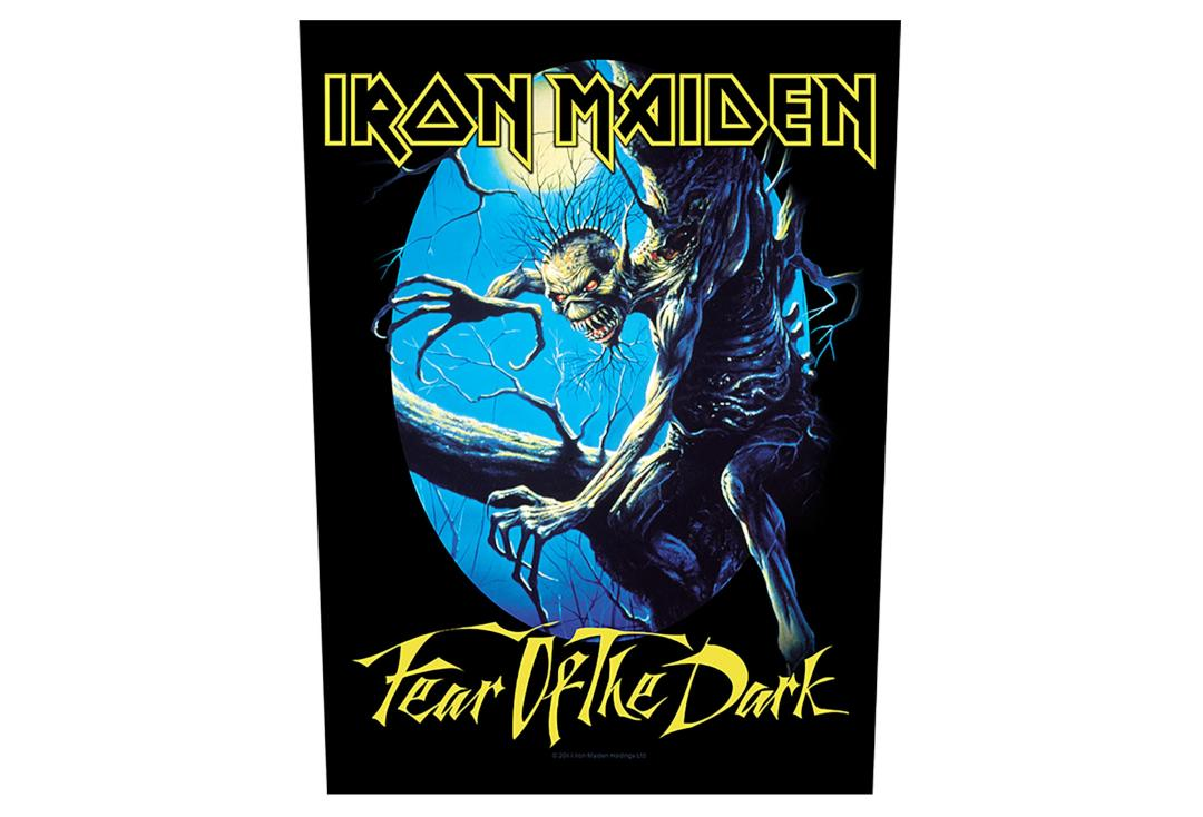Official Band Merch | Iron Maiden - Fear Of The Dark Printed Back Patch