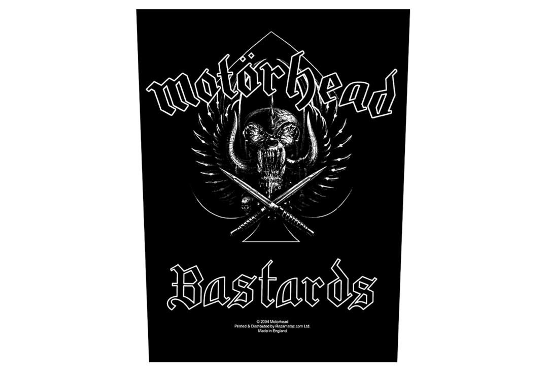 Official Band Merch | Motorhead - Bastards Printed Back Patch