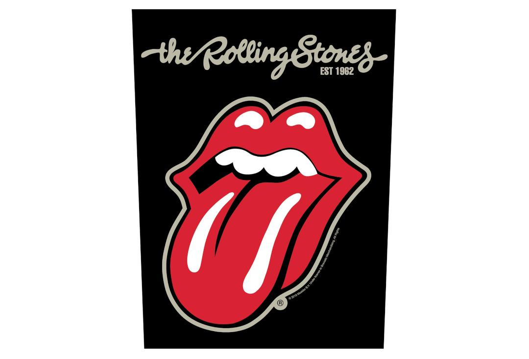 Official Band Merch | The Rolling Stones - Plastered Tongue Printed Back Patch