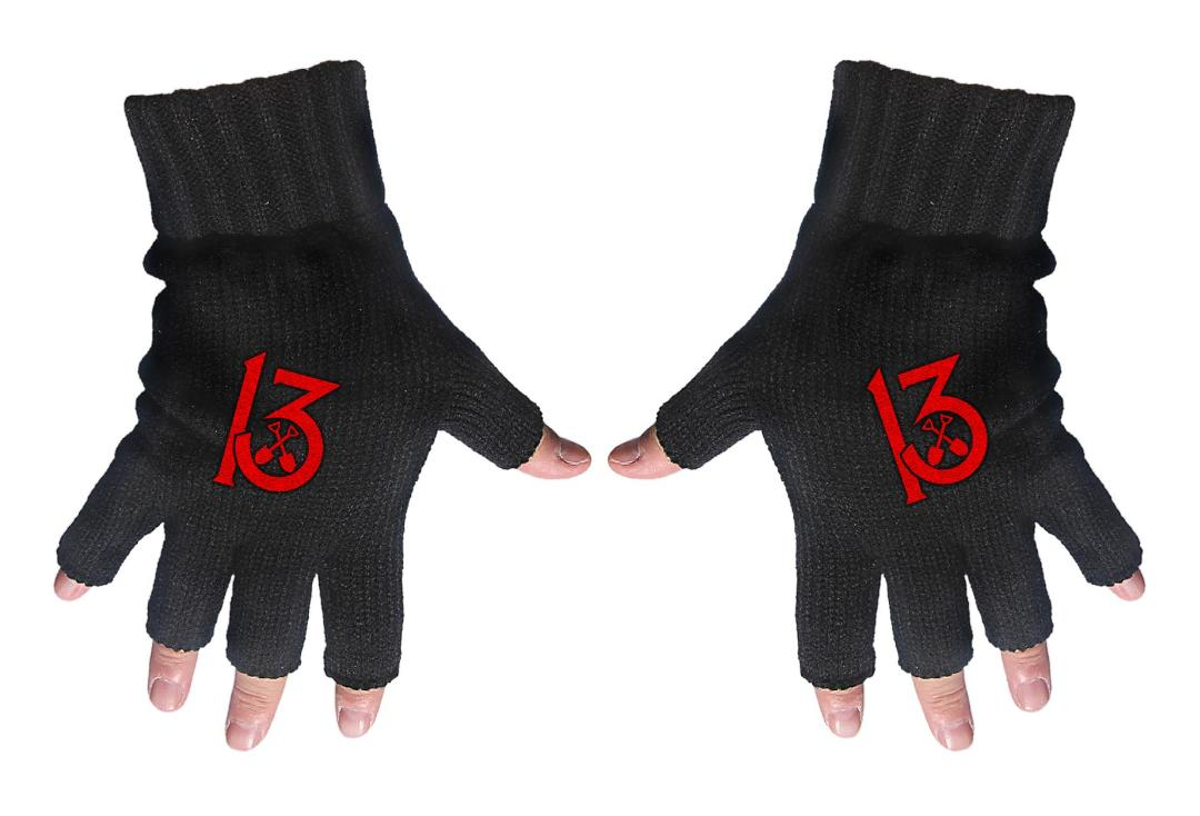 Official Band Merch | Wednesday 13 - 13 Embroidered Knitted Finger-less Gloves