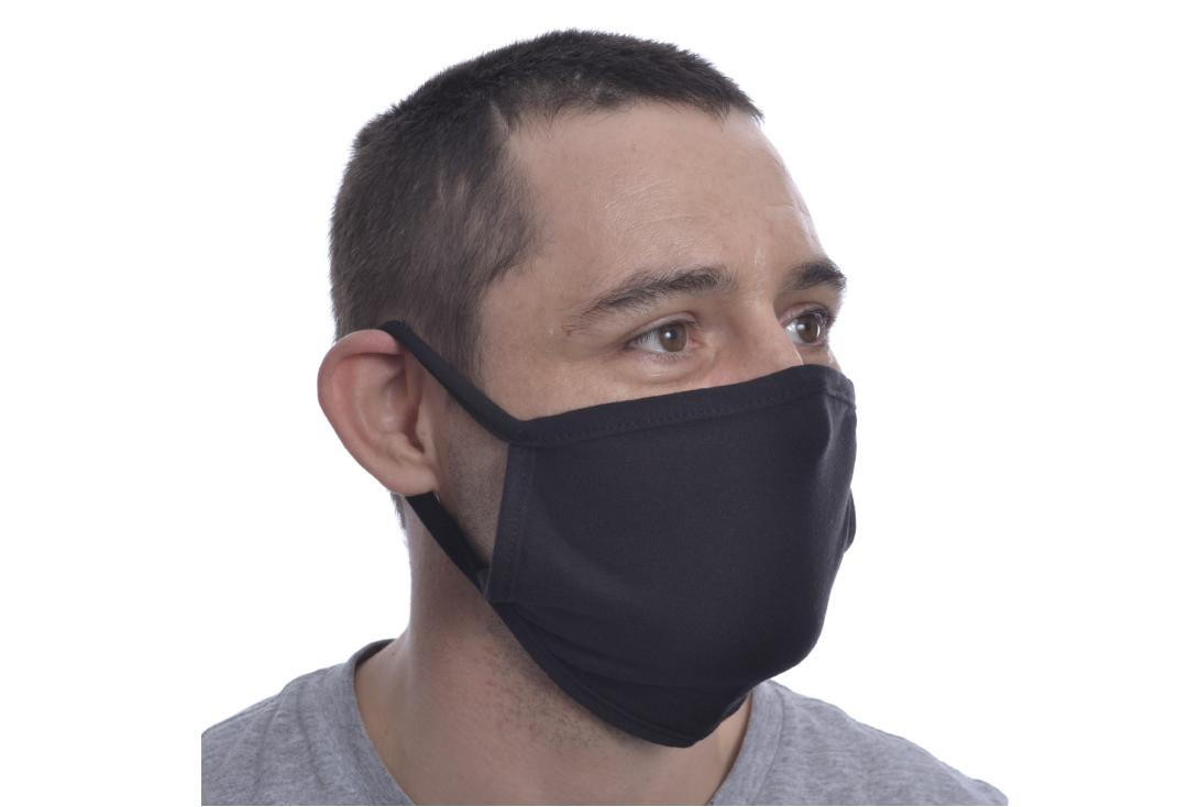 Poizen Industries | Black Cotton Rumi Face Cover - Front