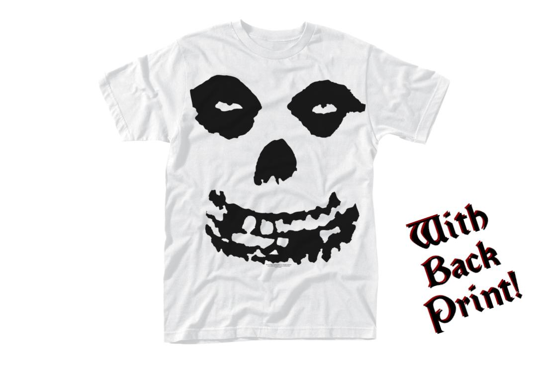 Official Band Merch | Misfits - All Over Skull White Men's Short Sleeve T-Shirt - Front